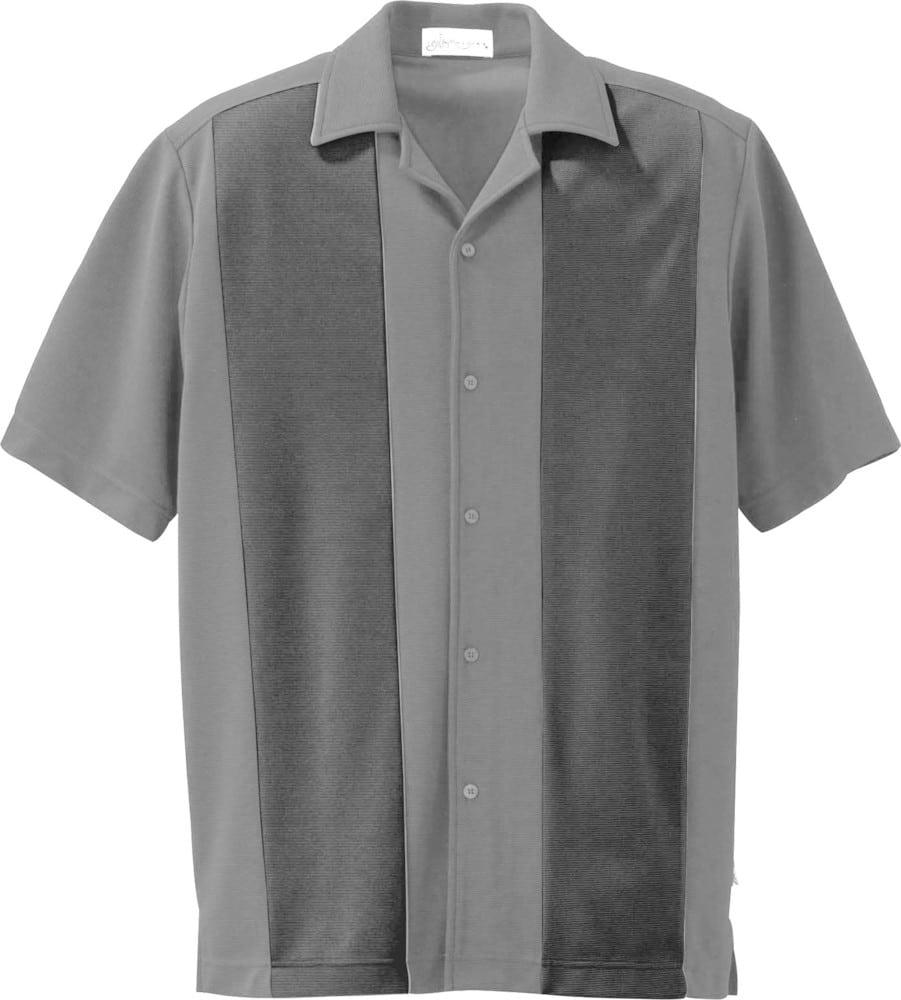 Ash City Vintage 87017 - Men's Knit Ottoman Color-Block Camp Shirt