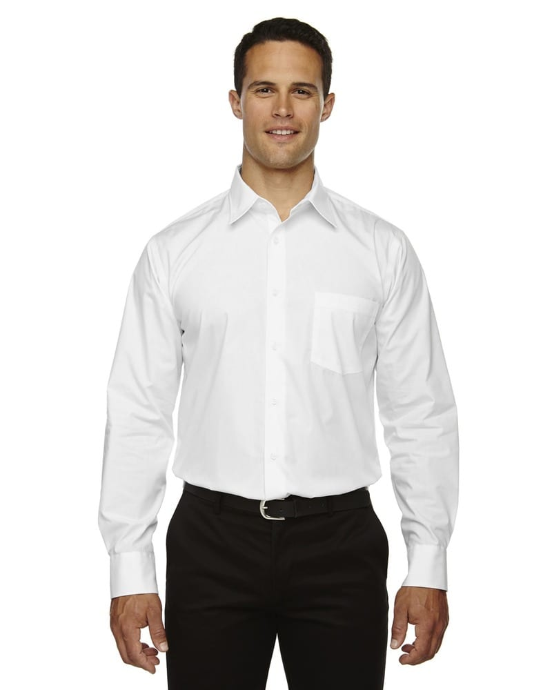 Ash City North End 87037 - Luster Men's Wrinkle Resistant Cotton Blend Poplin Taped Shirt