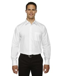 Ash City North End 87037 - Luster Mens Wrinkle Resistant Cotton Blend Poplin Taped Shirt