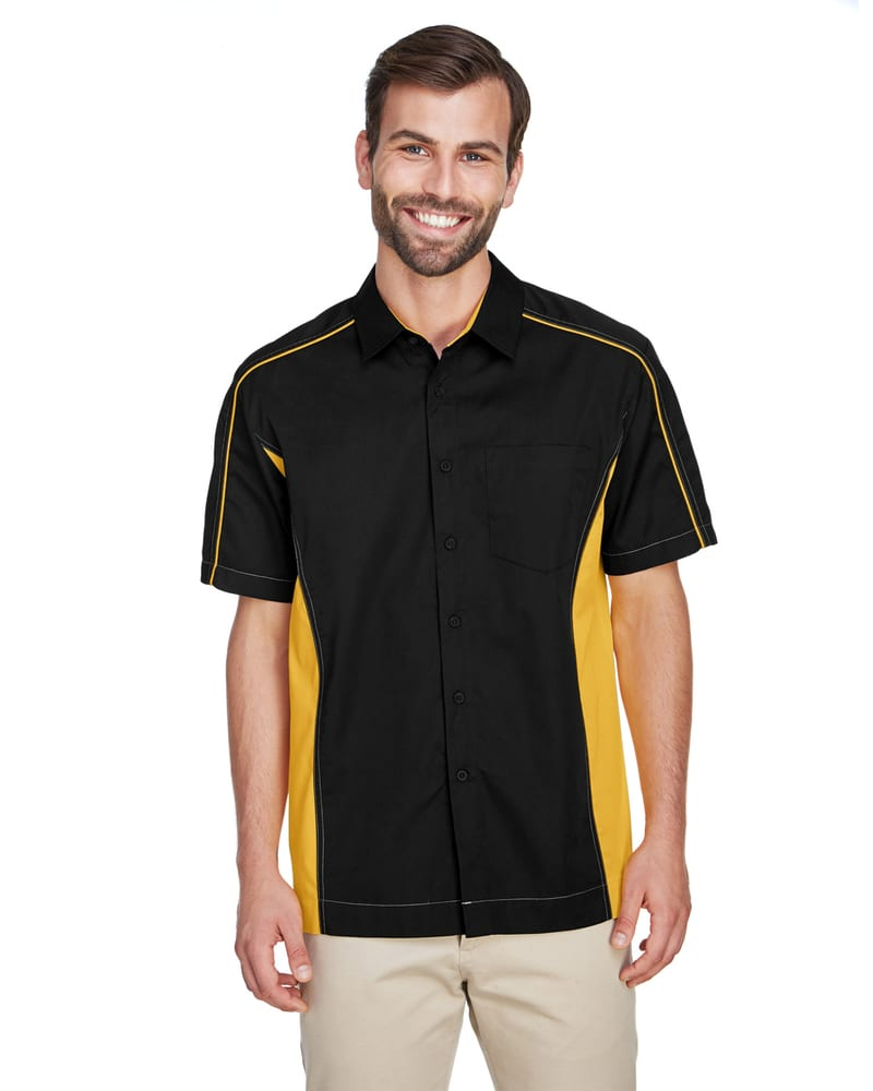 Ash City North End 87042 - Fuse Men's Color-Block Twill Shirts