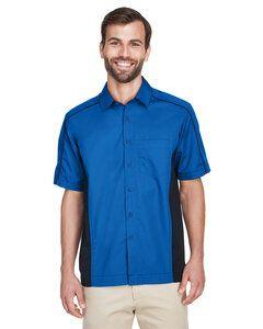 North End 87042 - Chemises en sergé Color-Block pour hommes Fuse