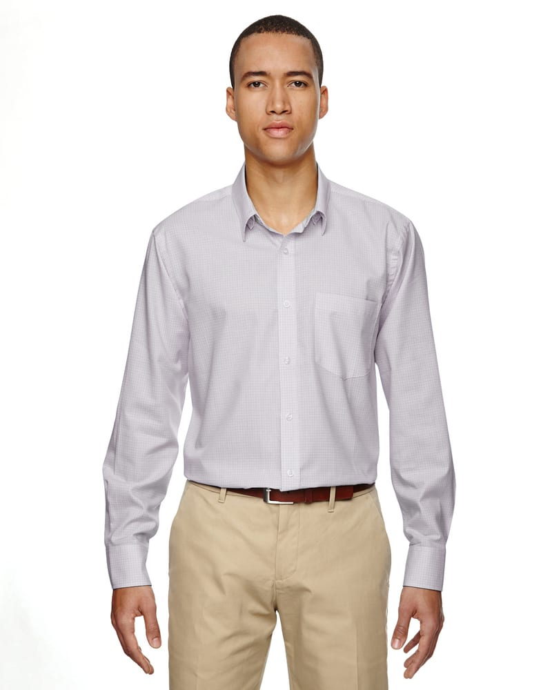 Ash City North End 87043 - Paramount Men's Wrinkle Resistant Cotton Blend Twill Checkered Shirt