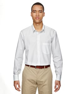 Ash City North End 87044 - Align Mens Wrinkle Resistant Cotton Blend Dobby Vertical Striped Shirt