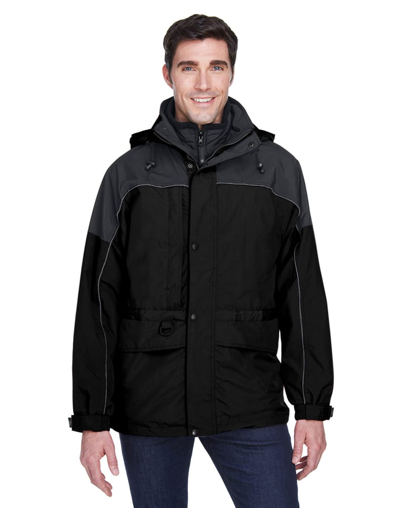 Ash City North End 88006 - Parka 3 En 1 Deux Tons Pour Homme