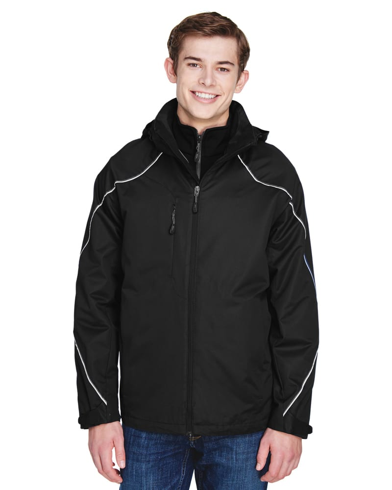 Ash City North End 88196 - ANGLE MEN'S3-in-1 JACKET WITH BONDED FLEECE LINER