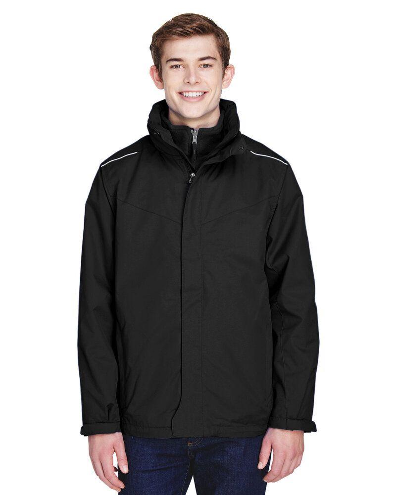 Ash City Core 365 88205T - Region Manteaux 3 En 1 Avec Manteau-Doublure En Molleton Pour Homme Long