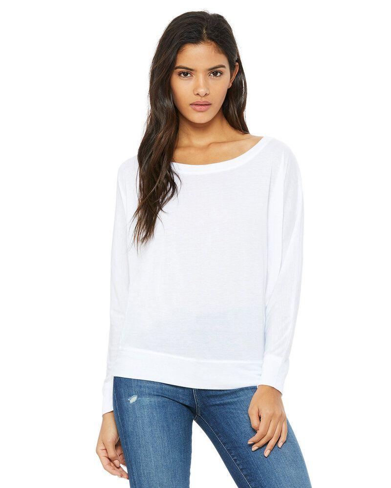 Bella+Canvas 8850 - t-shirt à manches longues avec épaules dégagées