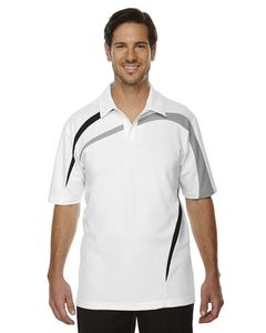 Ash City North End 88645 - Impact Polo Pour Homme En Piqué De Polyester Performance Avec Blocs De Couleur