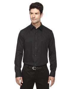 Ash City North End 88673 - Boulevard MensWrinkle Free 2-Ply 80'S Cotton Dobby Taped Shirt With Oxford Trim