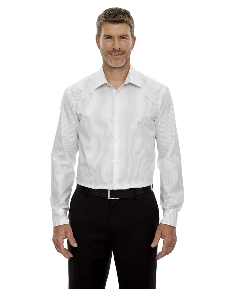 Ash City Vintage 88674 - Boardwalk Men'sWrinkleFree 2-Ply 80'S Cotton Striped Taped Shirt