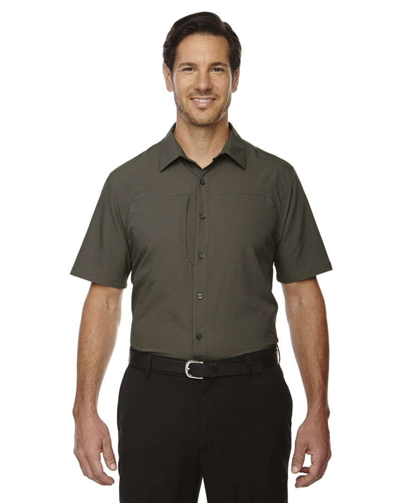 e.c.o Collection 88675 - Charge Men's Recycled Polyester Performance Short Sleeve Shirt