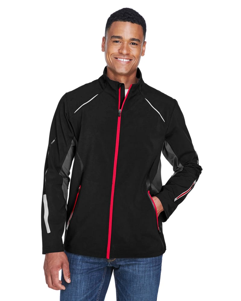 Ash City North End 88678 - Pursuit Men's 3-Layer Light Bonded Hybrid Soft Shell Jacket With Laser Perforation