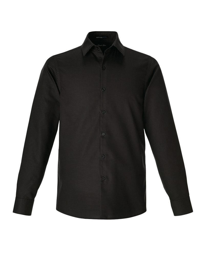Ash City North End 88688 - Iconic Pour Hommes Chemises Infroissabless En Twill De Cotton Armure 80's 2 Plis A Carreaux Avec Coutures Collees