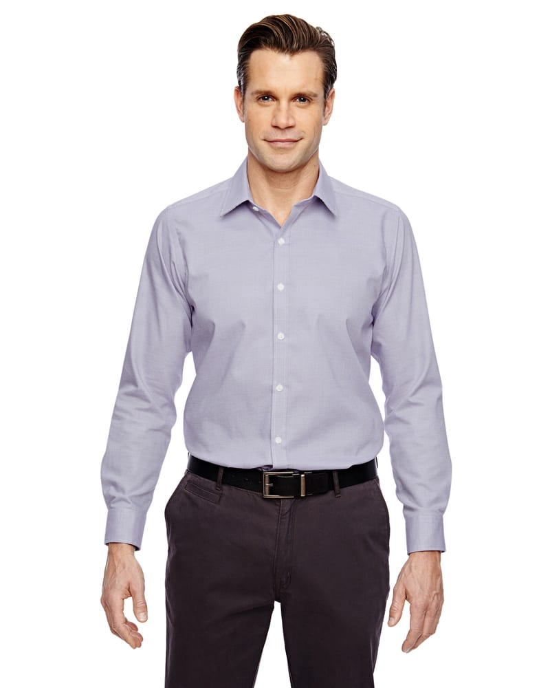 Ash City North End 88690 - Precise Men's Wrinkle Free 2-Ply 80'S Cotton Dobby Taped Shirt