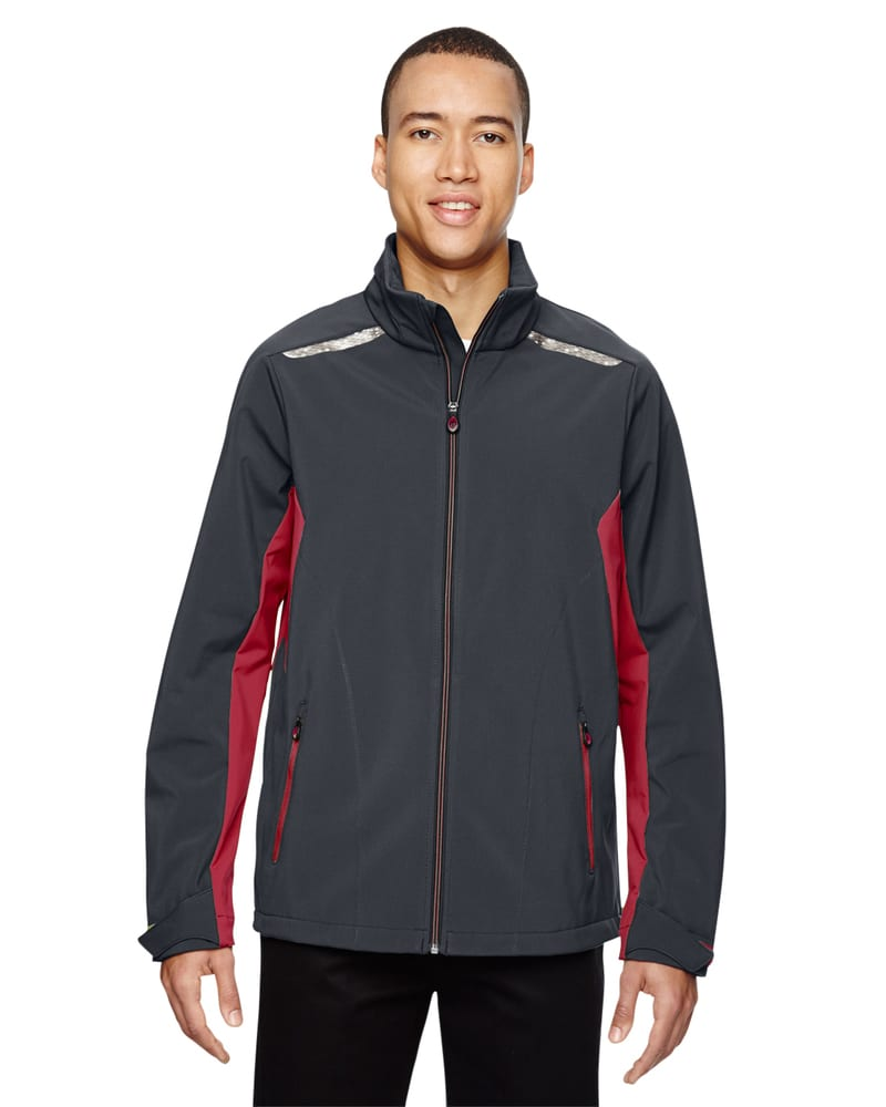North End Sport Red 88693 - Veste Softshell Excursion avec surpiqûres laser