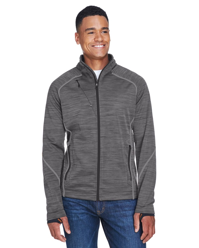 Ash City North End 88697 - Flux Men's Melange Bonded Fleece Jackets