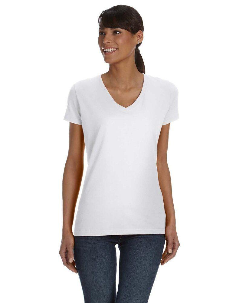 Fruit of the Loom L39VR - T-Shirt pour femme col en V en gros