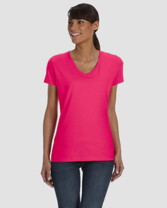 Fruit of the Loom L39VR - T-shirt pour femme 100% Heavy cottonMD, 8,3 oz de MD avec encolure en V