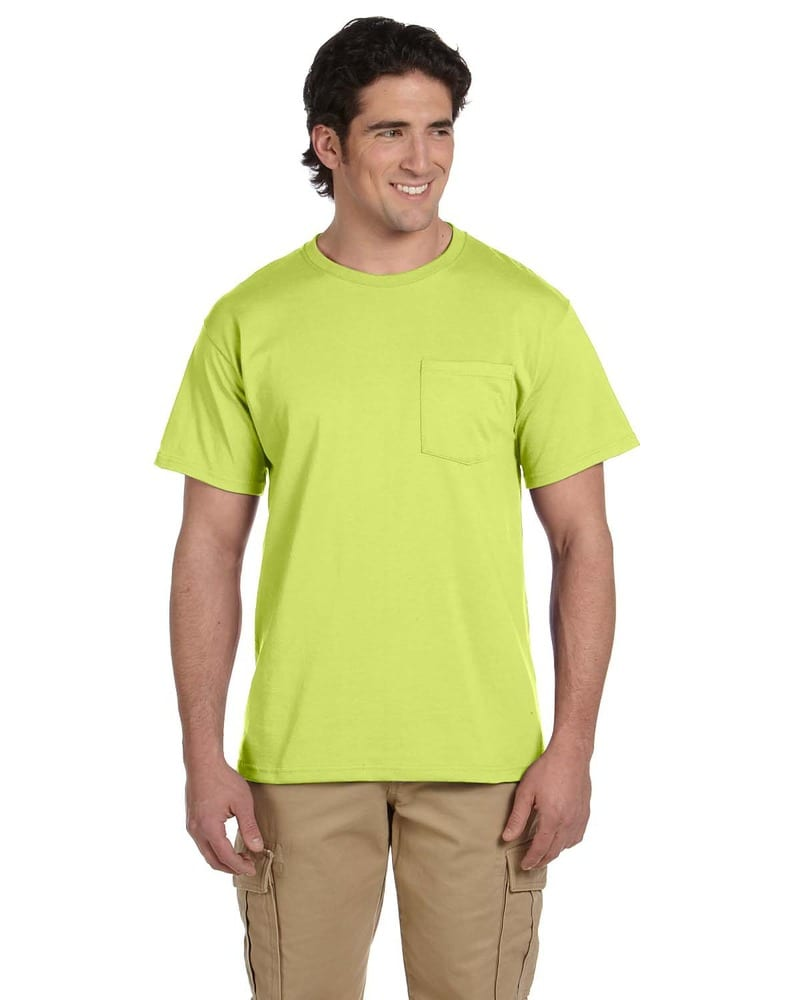 Jerzees Heavyweight Blended Adult Pocket T-Shirt SM To 3XL