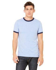 Bella+Canvas 3055C - t-shirt jersey Ringer pour homme à manches courtes