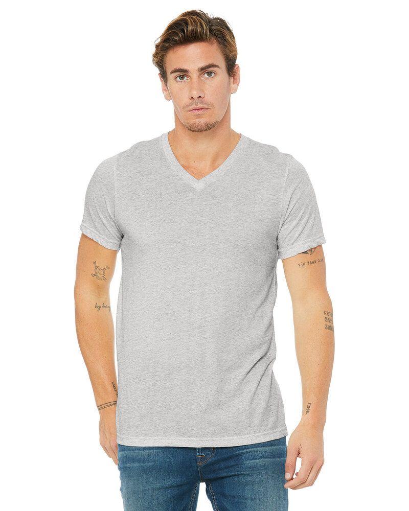 Bella+Canvas 3415C - T-shirt col V à manches courtes en jersey unisexe