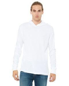Bella+Canvas 3512 - t-shirt jersey unisexe à capuchon et manches longues