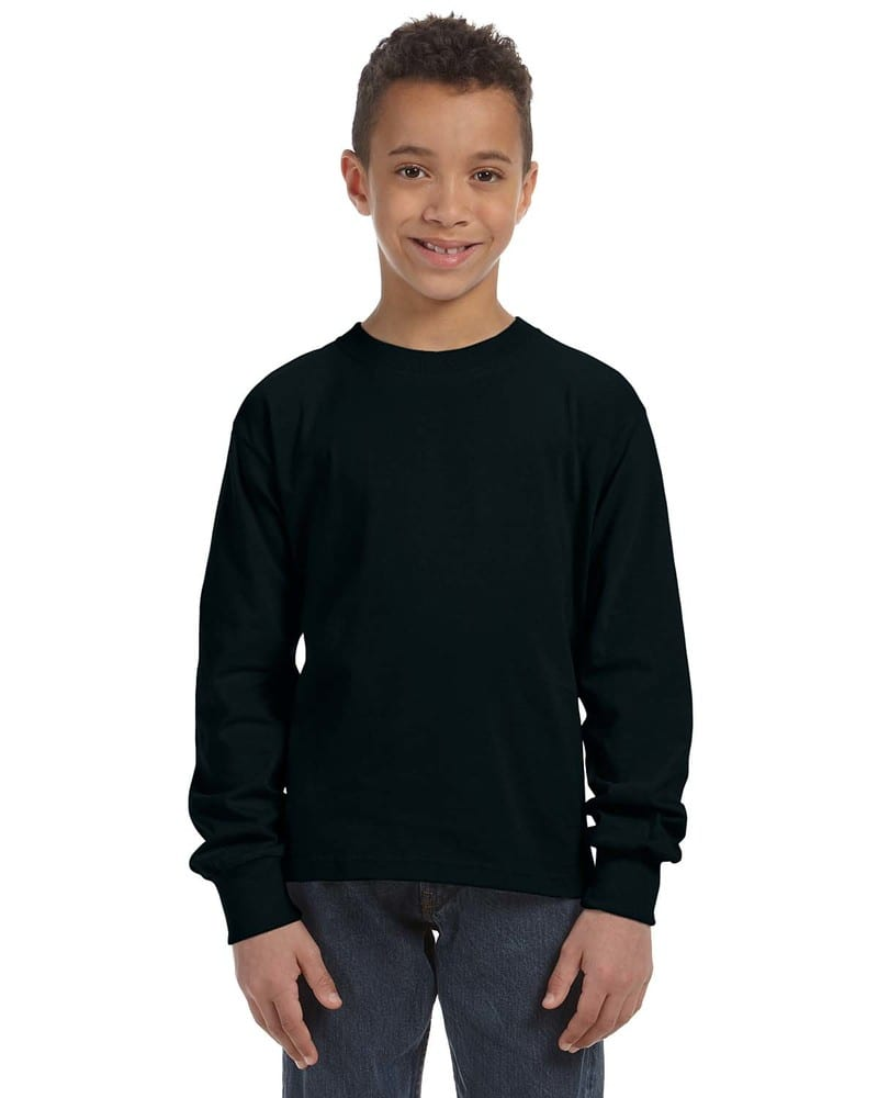 Gildan Boys 5.3 oz Heavy Cotton T-Shirt -BLACK -XL-12PK G500B
