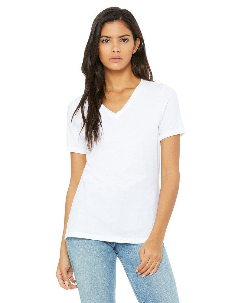 Bella+Canvas 6405 - t-shirt jersey Missy à manches courtes et encolure en V