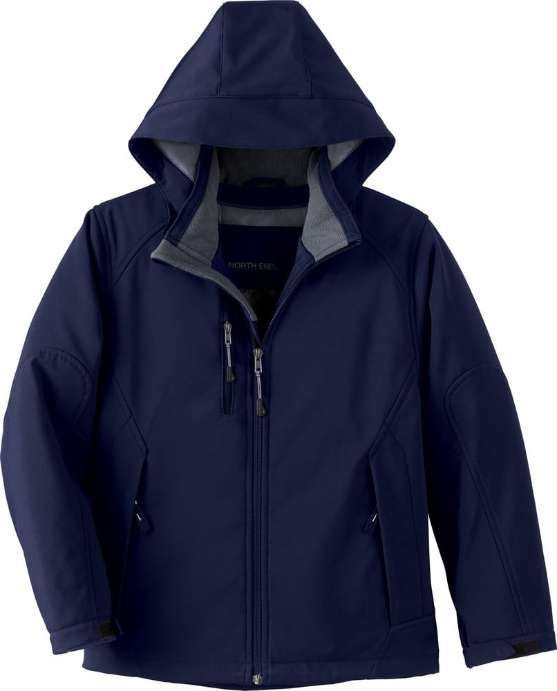 Ash City North End 68010 - Glacier Youth Insulated Soft Shell Jacket With Detachable Hood