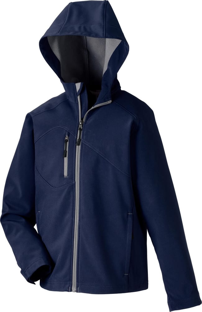 Ash City North End 68166 - Prospect Youth Soft Shell Jacket With Hood