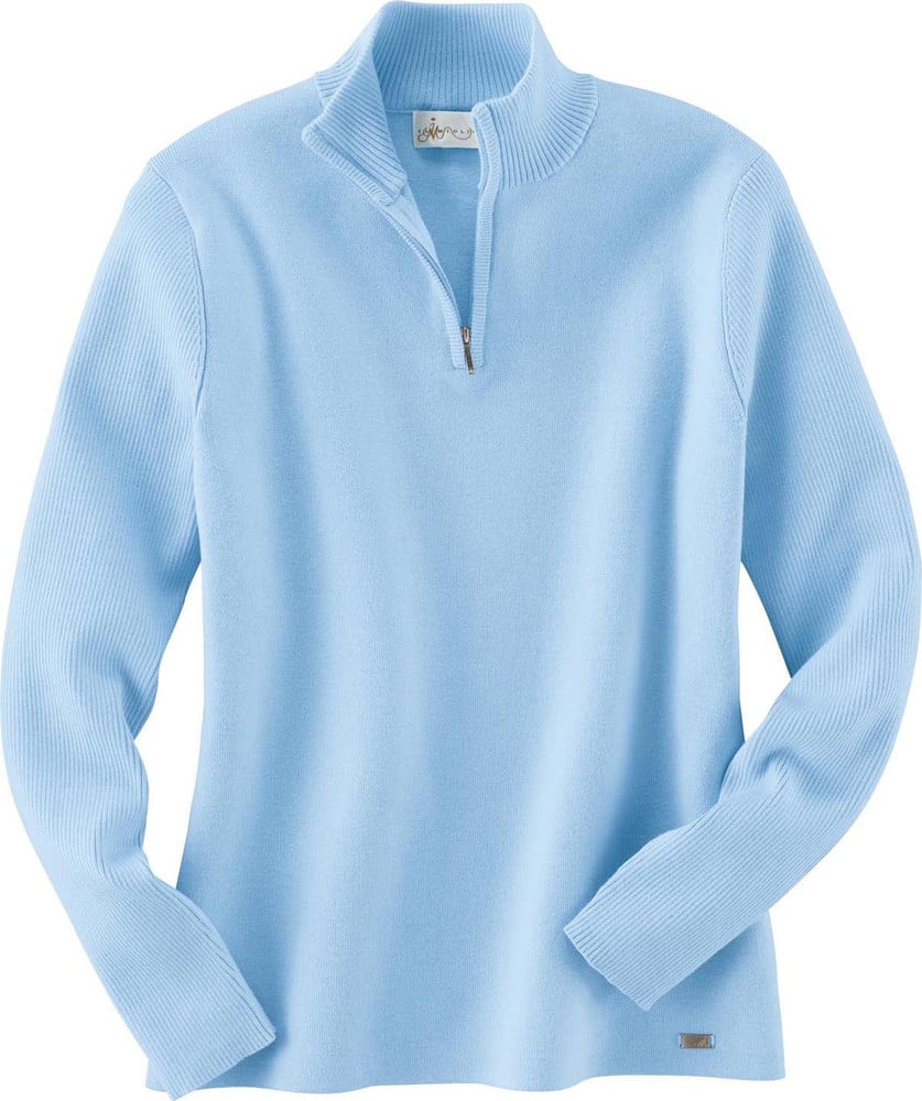 Ash City Vintage 71001 - Ladies' Half-Zip Mock Neck Sweater