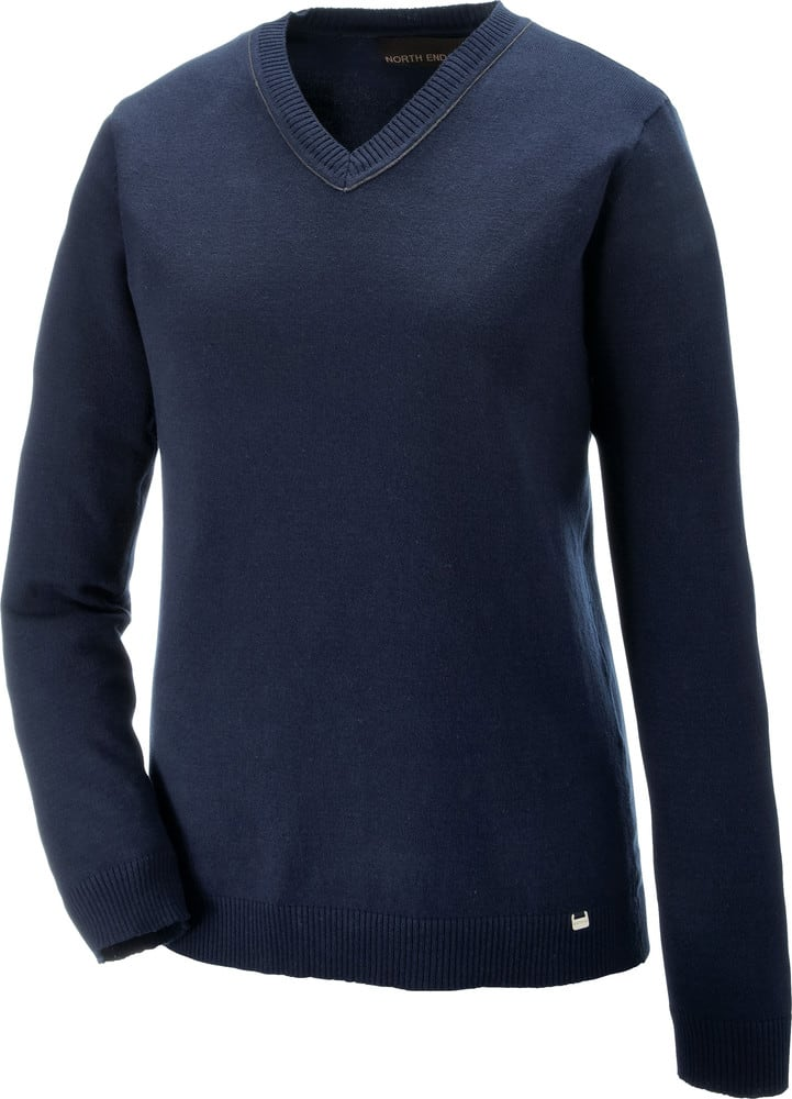 Ash City North End 71010 - Merton Ladies' Soft Touch V-Neck Sweater