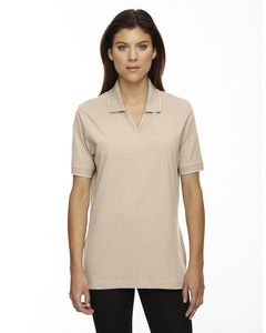 Ash City Extreme 75009 - Ladies Johnny Collar Jersey Polo With Pencil Stripe