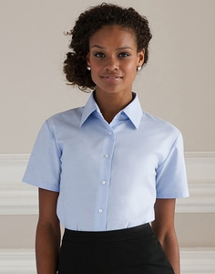 Russell Collection R-933F-0 - Camicia donna Oxford maniche corte