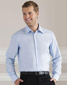 Russell Collection R-922M-0 - Camicia uomo Oxford maniche lunghe