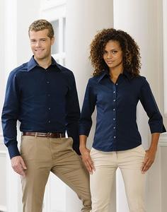 Russell Collection R-954F-0 - Camicia donna Tencel® attillata maniche 3/4