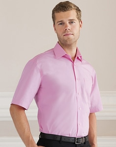 Russell Collection R-937M-0 - Camisa Homem R937M Popeline Manga Curta