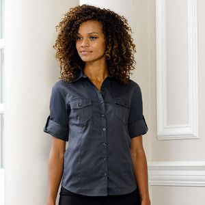 Russell Europe R-918F-0 - Ladies` Roll 3/4 Sleeve Shirt