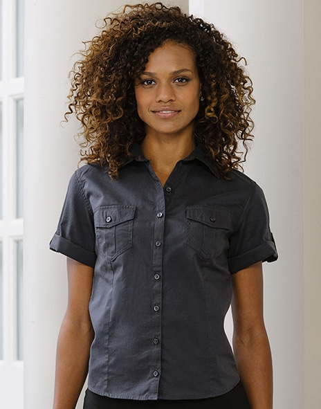 Russell Europe R-919F-0 - Ladies` Roll Sleeve Shirt