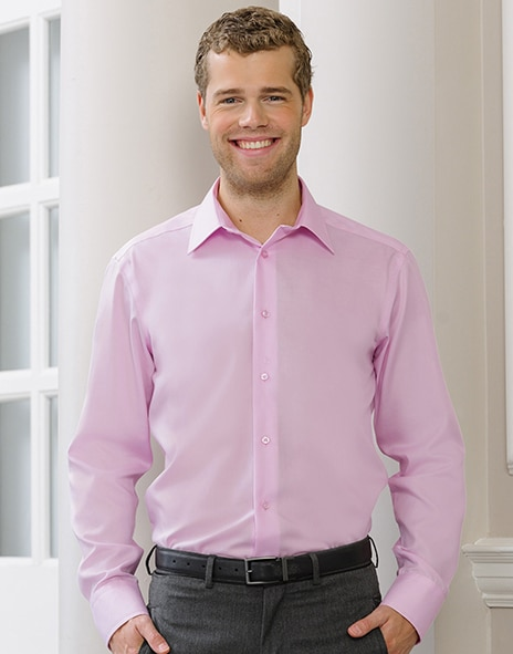 Russell Europe R-958M-0 - Tailored Ultimate Non-iron Shirt LS
