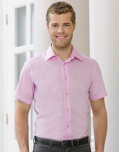 Russell Europe R-959M-0 - Men´s Short Sleeve Tailored Ultimate Non-iron