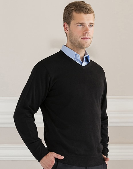 Russell Europe R-710M-0 - V-Neck Knit Pullover