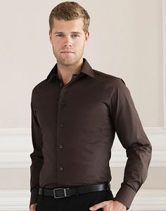 Russell Collection R-946M-0 - Camicia Stretch attillata maniche lunghe