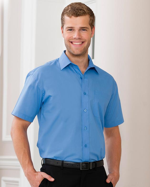 Russell Europe 935M - Short Sleeve Poplin Shirt