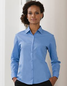 Russell Collection R-934F-0 - Poplin Blouse met Lange Mouwen