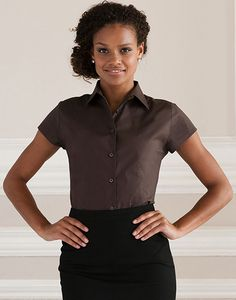 Russell Collection R-947F-0 - Getailleerde Blouse met Korte Mouwen