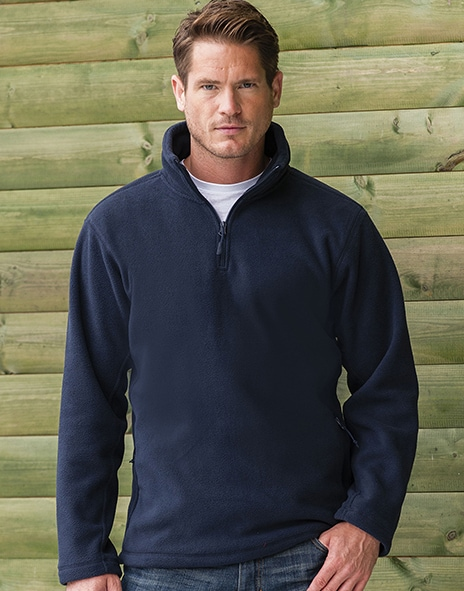 Russell Europe R-874M-0 - Adult`s Quarter Zip Outdoor Fleece