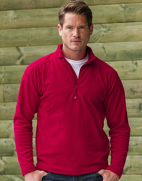 Russell Europe R-881M-0 - 1/4 Zip Microfleece
