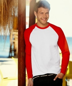 Fruit of the Loom 61-028-0 - Long Sleeve Baseball-T-Shirt
