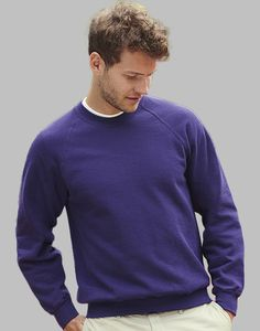 Fruit of the Loom 62-216-0 - Sweatshirt Raglan Gola Redonda